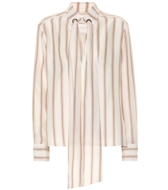 Chloé - Striped silk satin blouse - mytheresa.com