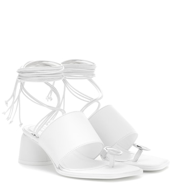 Ellery - Embellished leather sandals - mytheresa.com