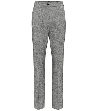 Dolce & Gabbana - High-rise straight wool-blend pants - mytheresa.com