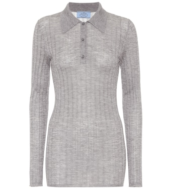 Prada - Cashmere and silk polo shirt - mytheresa.com