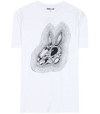 McQ Alexander McQueen - Bunnny Be Here Now printed cotton T-shirt - mytheresa.com
