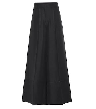 Valentino - Wide-leg silk trousers - mytheresa.com