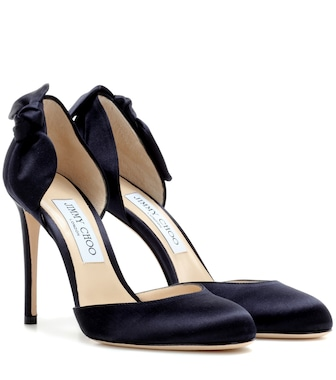 Jimmy Choo - Kay 100 satin pumps - mytheresa.com