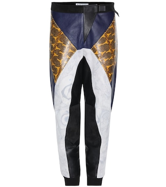 Acne Studios - Meade embossed leather trousers - mytheresa.com