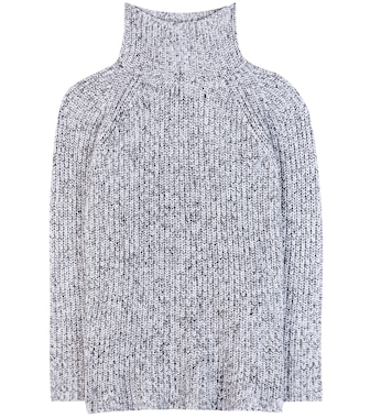 T by Alexander Wang - Cotton, wool and mohair-blend turtleneck sweater - mytheresa.com