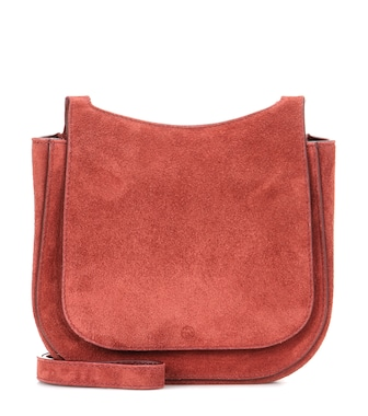 The Row - Hunting 7 suede shoulder bag - mytheresa.com