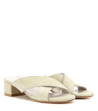 Maryam Nassir Zadeh - Lauren suede slip-on sandals - mytheresa.com