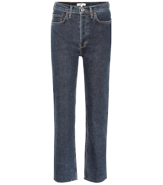 Re/Done - Stovepipe high-rise straight jeans - mytheresa.com