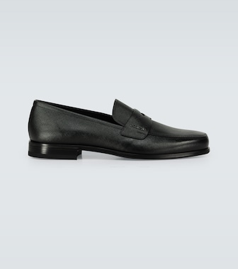 Prada - Saffiano leather penny loafers - mytheresa.com