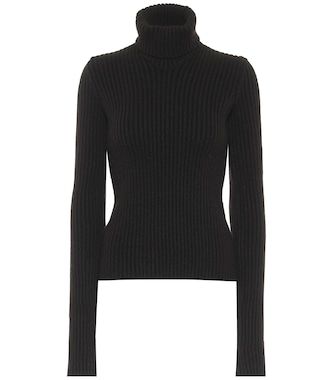 Bottega Veneta - Ribbed-knit wool-blend sweater - mytheresa.com
