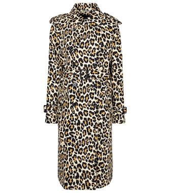 Marc Jacobs - Leopard-print denim trench coat - mytheresa.com