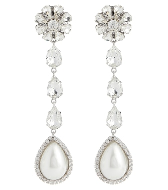 Alessandra Rich - Embellished clip-on earrings - mytheresa.com