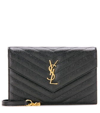 Saint Laurent - Classic Monogram quilted leather shoulder bag - mytheresa.com