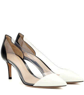 Gianvito Rossi - Exclusive to mytheresa.com – Plexi 70 leather and transparent pumps - mytheresa.com