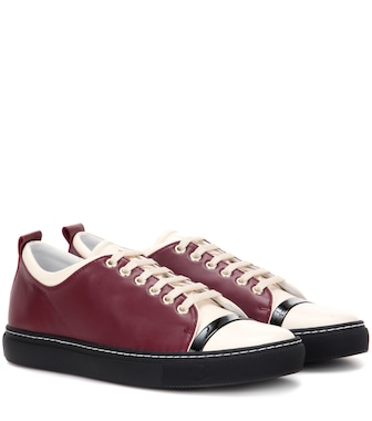 Lanvin - Low-top leather sneakers - mytheresa.com
