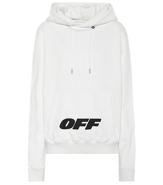 Off-White - Printed cotton hoodie - mytheresa.com