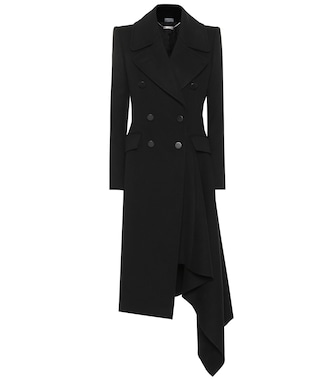 Alexander McQueen - Asymmetric wool and cashmere coat - mytheresa.com
