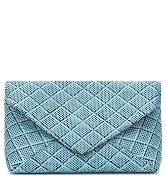 Dries Van Noten - Woven raffia clutch - mytheresa.com