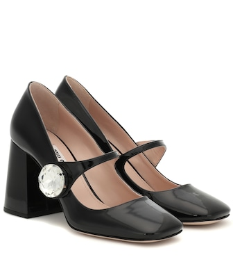 Miu Miu - Patent leather Mary Jane pumps - mytheresa.com