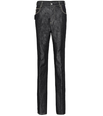 Bottega Veneta - High-Rise Straight Jeans - mytheresa.com