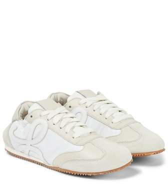 LOEWE - Ballet Runner leather and suede sneakers - mytheresa.com