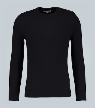 Givenchy - Cashmere sweater with 4G buttons - mytheresa.com