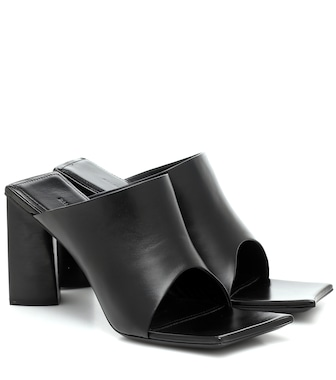 Balenciaga - Moon leather sandals - mytheresa.com