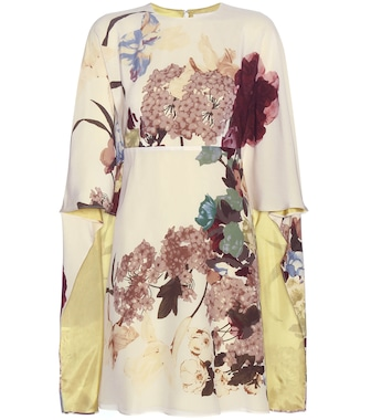 Valentino - Printed silk dress - mytheresa.com