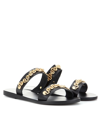 Ancient Greek Sandals - Poulia leather sandals - mytheresa.com