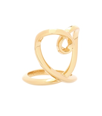 Chloé - Golden heart ring - mytheresa.com
