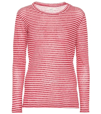 Isabel Marant, Étoile - Kaaron striped linen and cotton top - mytheresa.com
