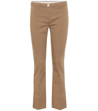 S Max Mara - Feroce cotton-blend twill pants - mytheresa.com