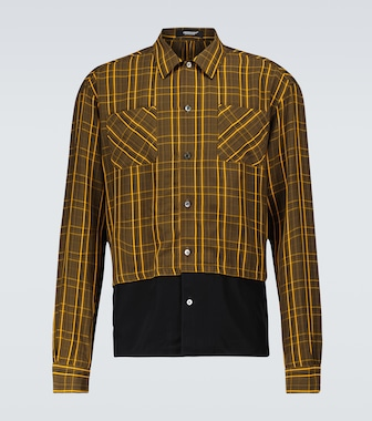 Undercover - Checked long-sleeved shirt - mytheresa.com