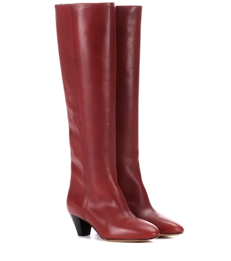 Isabel Marant - Robby leather knee-high boots - mytheresa.com