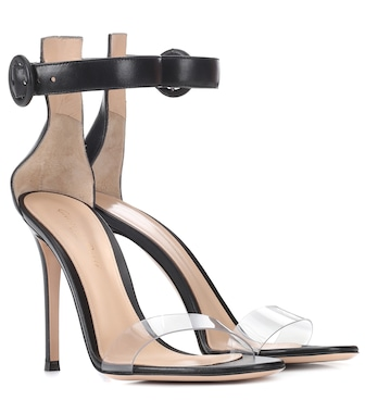 Gianvito Rossi - Stella leather sandals - mytheresa.com