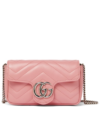 Gucci - GG Marmont Super Mini leather shoulder bag - mytheresa.com