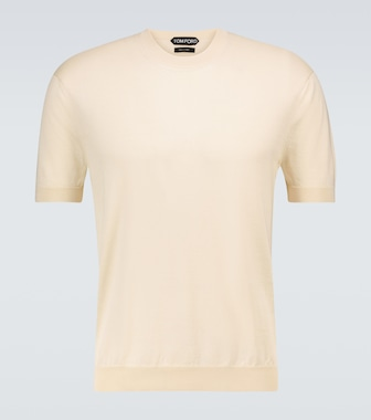 Tom Ford - Silk and cotton knitted T-shirt - mytheresa.com