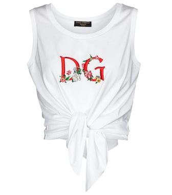 Dolce & Gabbana - Exclusive to Mytheresa – Logo cropped cotton tank top - mytheresa.com