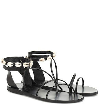 Ancient Greek Sandals - Exclusive to Mytheresa – Meloivia leather sandals - mytheresa.com