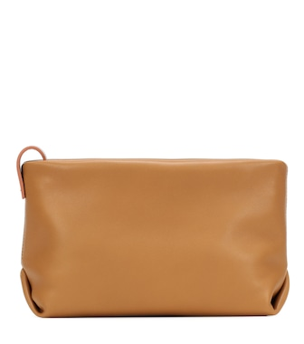 Loro Piana - Inside Out leather clutch - mytheresa.com