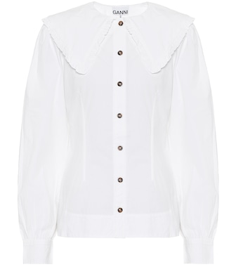 Ganni - Cotton poplin shirt - mytheresa.com
