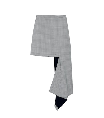 Balenciaga - Asymmetric wool-blend skirt - mytheresa.com