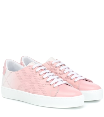 Burberry - Leather sneakers - mytheresa.com