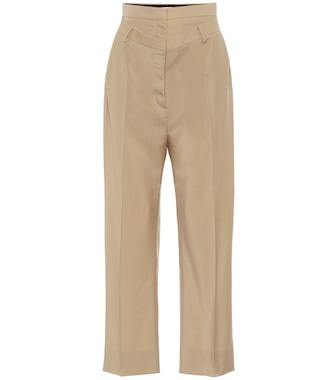 Burberry - Double-waist mohair and wool pants - mytheresa.com