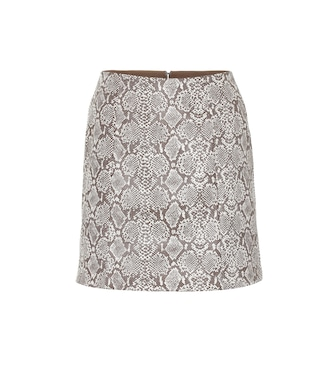 AlexaChung - Snake-effect faux leather skirt - mytheresa.com
