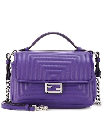 Fendi - Double Micro Baguette leather shoulder bag - mytheresa.com