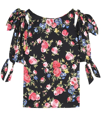 Dolce & Gabbana - Stretch-silk blouse - mytheresa.com