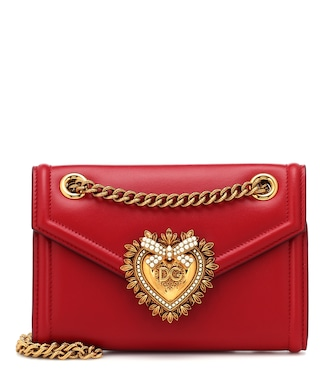 Dolce & Gabbana - Mini Devotion leather shoulder bag - mytheresa.com