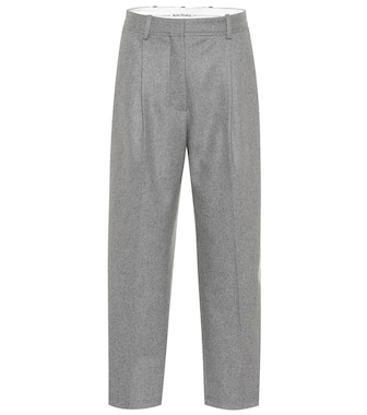 Acne Studios - High-rise wool-blend pants - mytheresa.com