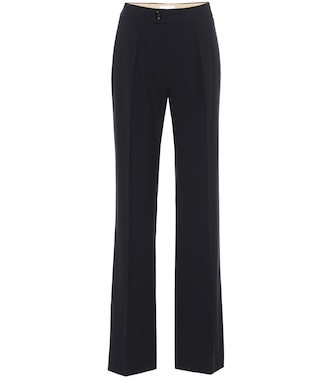 Chloé - Stretch-wool straight pants - mytheresa.com